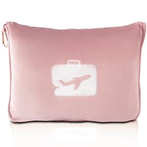 pink travel blanket