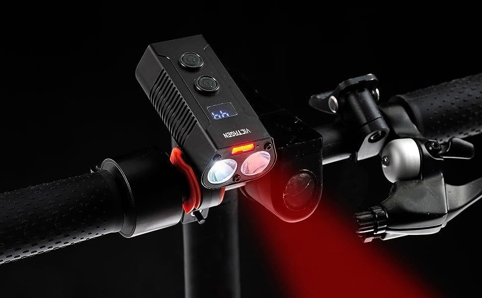 USB Rechargeable Bike Light,Super Bright 2400 Lumens