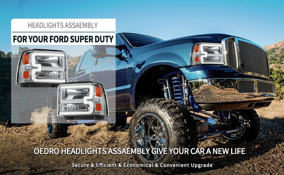 ford f250 f350 f450 f550 superduty headlights