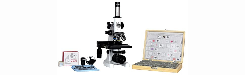 MEDICAL MICROSCOPE WITH 100 SLIDE BOX