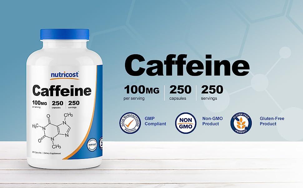 caffeine pills capsules 100mg 250 count