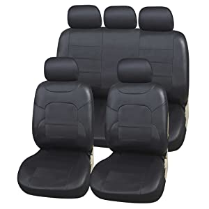 Fundas para asientos negra para todos los automóviles ford asiento del coche delante de referencia