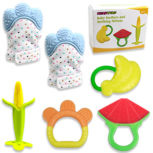 baby teething toy teether mitten baby gift