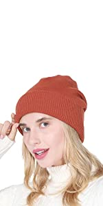 Double Layer Ski Hat Skull Cap Unisex Cuffed Beanie