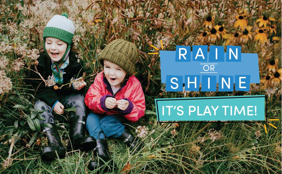 Rain or Shine it's play time
