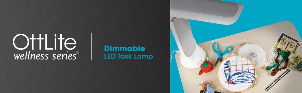 OttLite Wellness Series dimmable LED task Lamp