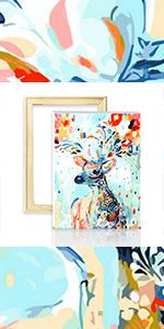 KAMIERFA Pintar por Numeros Adultos Ni/ños para DIY Conjunto Completo de Pinturas Surtidas Pintura al /óleo Kit y Accesorios 40x50 cm