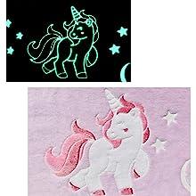 glow of the beautiful unicorn, moon and shooting stars...