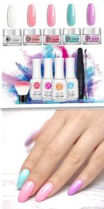 Dipping Powder Nail Starter Kit 5 Colors Dip Powder Easy Dip powder kit