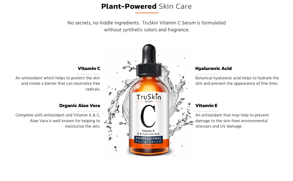 Vitamin C Serum for Face Ingredients