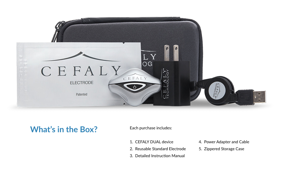 What's included with the Cefaly migraine relief device
