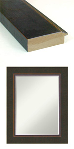 bronze wood wall mirror