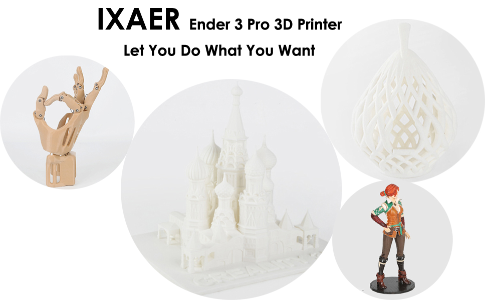 Creality Ender 3 Pro DIY Printer with Removable Magnetic Bed 3D Printer Kit with Power