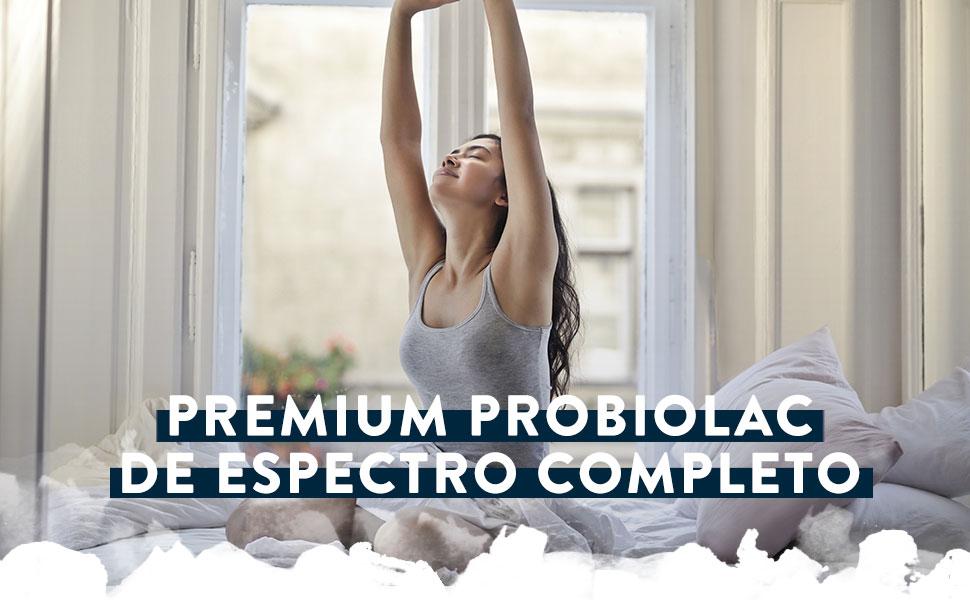Premium Probiótico [ 120 Mil Millones de UFC ] 30x Cepas Bacterianas incl. Lactobacillus Acidophilus & Bifidobacterium por Dosis - 90 Cápsulas de ...