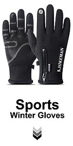 Touchscreen Winter Gloves Black