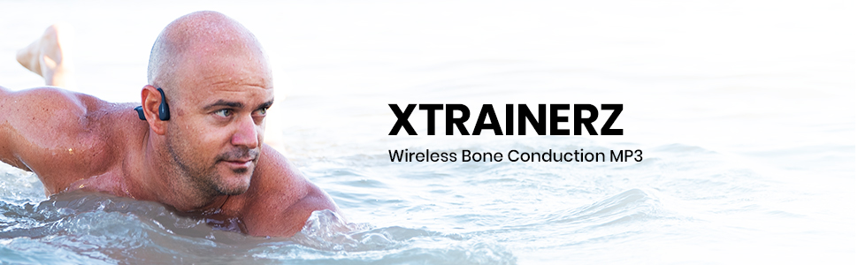 AfterShokz Xtrainerz waterproof MP3, open-ear bone conduction headphones