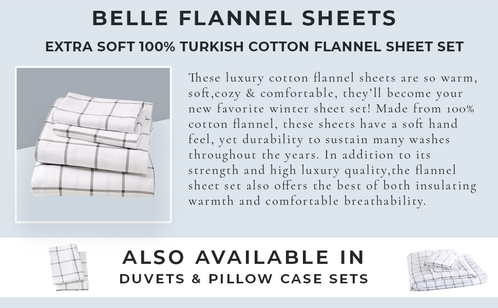 Belle Printed Flannel Sheets