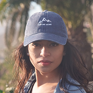 explore more mountains dad hat