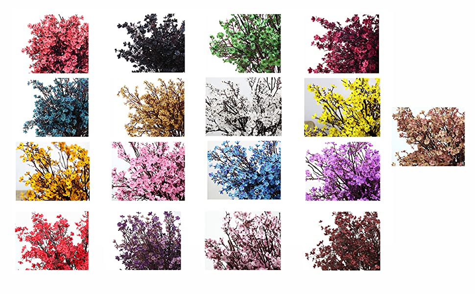 Babys Breath Fabric Cloth Artificial Flowers spring, summer, autumn, winter, 17 colors