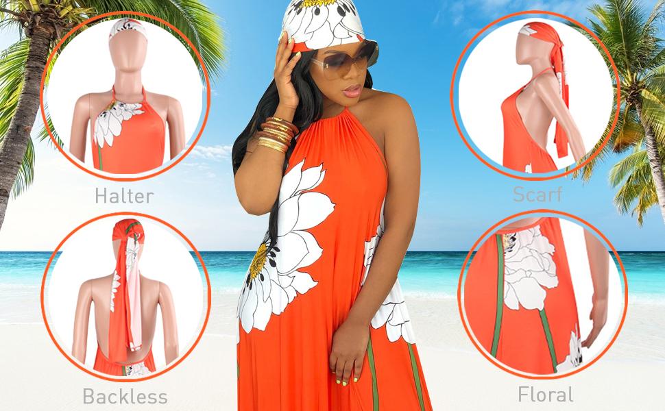 Women Halter Backless Dresses