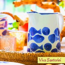 vietri pesci colorati viva santorini coastal beach sea dinnerware italy fine dining table ceramic