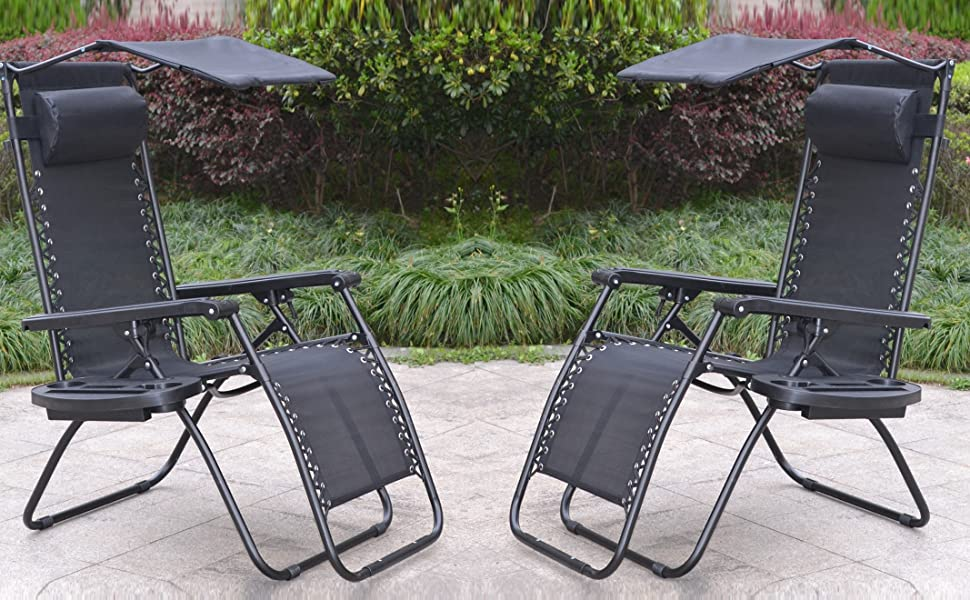 Amazon Com Btexpert 15044b 2 Two Pack Utillity Cup Holder Zero Gravity Chair Case Lounge Patio Pool Beach Yard Garden Black With Canopy Garden Outdoor