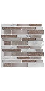 peel and stick tile backsplash in marble