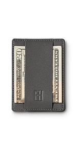 Famp;H Signature Slim RFID Card Holder Wallet in Top Grain Leather