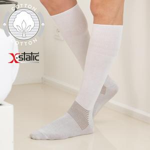 Calze diabete, calzini lunghi per diabetici, calze fibra argento, piede atleta