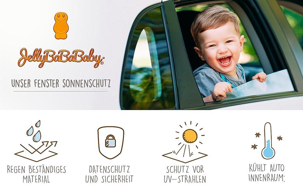 2 St/ück SHENGYAO Auto Sonnenschutz Baby Sonnenblende mit UV Schutz Sonnenschutzrollo f/ür Seitenfenster Selbsthaftende Cartoon Sonnenblenden f/ür Kinder /& Haustiere