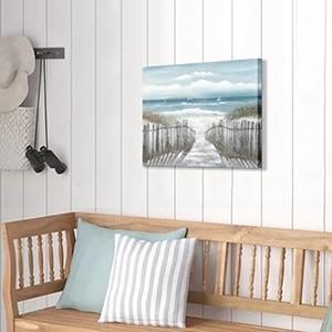 wall canvas of beach scene
