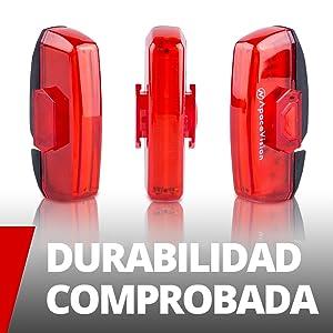 Luz Trasera Bici Recargable USB de Apace - Superbrillante 100 ...