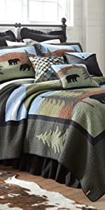 Bear Lake, Donna Sharp, Quilts, Quilt Sets, Lodge, Bear Pattern