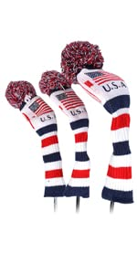 usa patriotic golf knitted head cover
