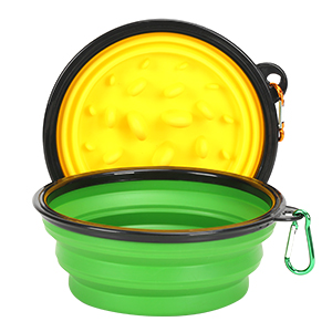 2 Collapsible Slow Feeder Bowls