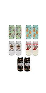 women sloth ankle socks