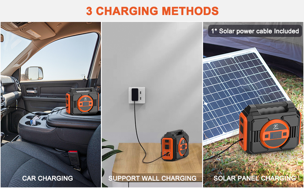 3 ways to charge for power station