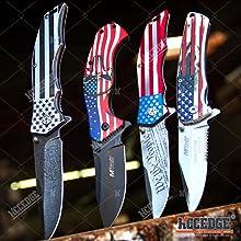USA Flag Pocket Knife