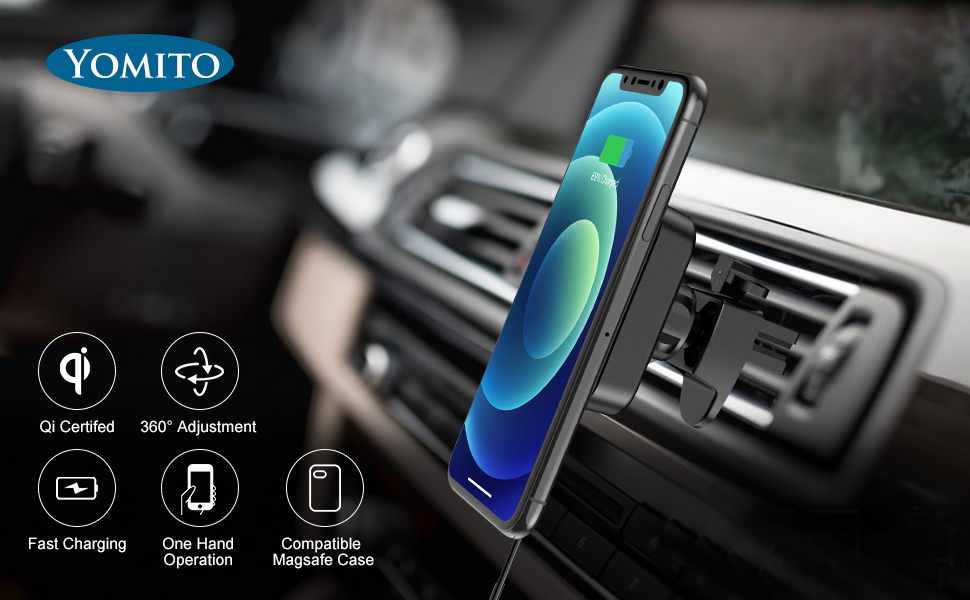 YOMITO MAGNETIC WIRELESS CAR CHARGING MOUNT
