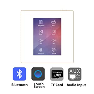audio amplifier with touch screen