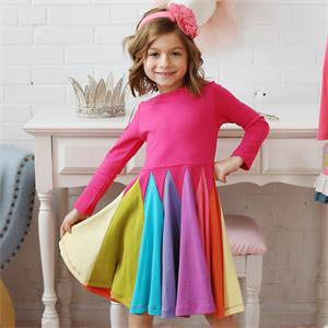 colourful fall spring dress for girl