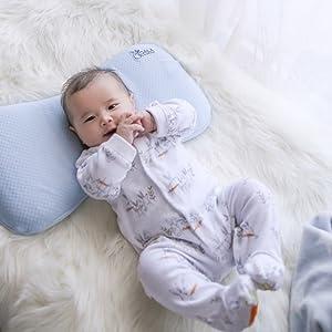 Almohada para Bebe para plagiocefalia desenfundable (con dos forros) para prevenir/curar la Cabeza Plana in Memory Foam Antiasfixia - KoalaBabycare® - ...
