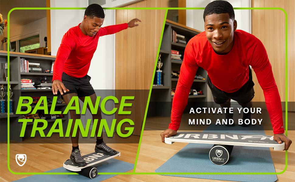 Abs Beinmuskeltraining Building Balance Board Fitnessger/äte f/ür Erwachsene Home Gyms Yoga Workout Neckip Balance Board mit Widerstandsb/ändern