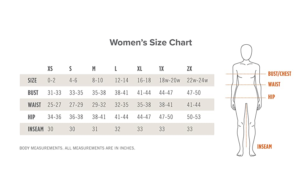 Kerrits Equestrian Size Chart for Breeches