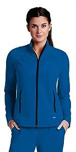 Women's Barco One 5405 2-Pocket Mock Neck Zipper Jacket