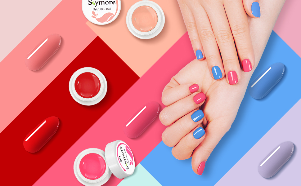 Amazon Com Skymore Uv Nail Glue Kit De Esmalte De Uñas De Gel De 36 Colores Gel Semipermanente Uv Led Soak Off Gel Esmalte De Uñas Kit De Inicio Para Diseño De Uñas