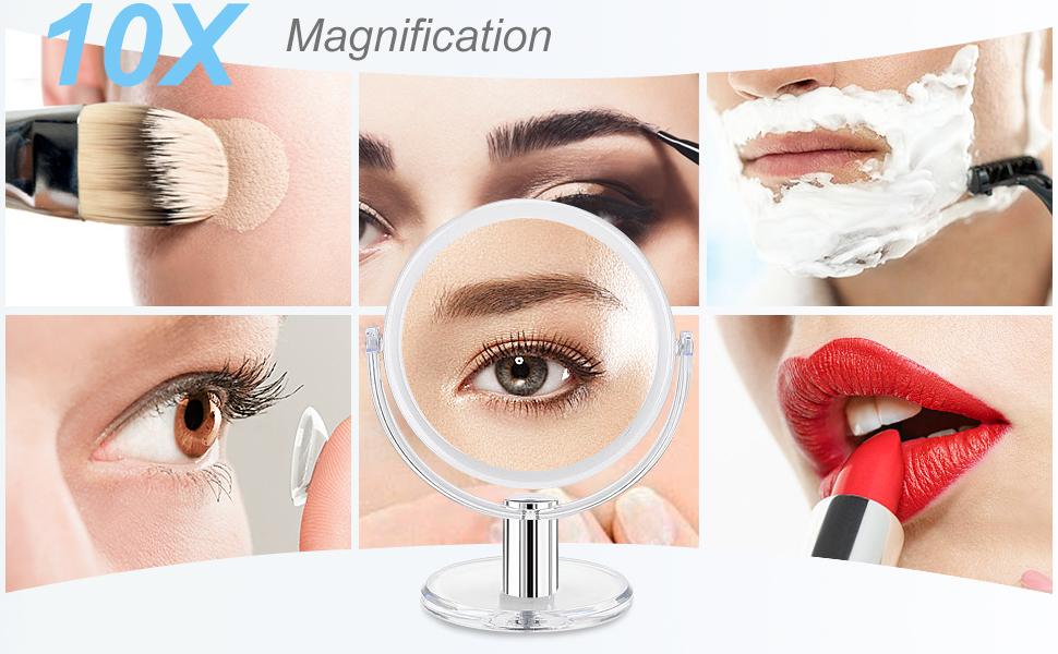 10 magnifying