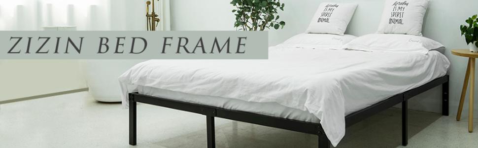 zizin heavy duty bed frame