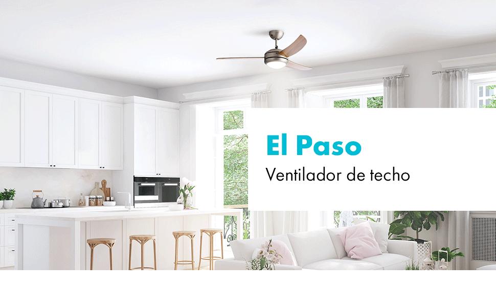 KLARSTEIN El Paso – Ventilador de Techo, 2 en 1: Ventilador y ...