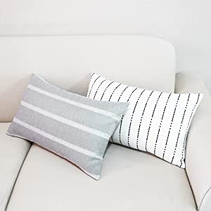 gery lumbar pillow covers